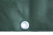 Abdeckplane grün Alu-Ösen